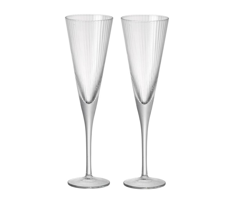 FLUTE CHLOE Clear Glass - Set of 2