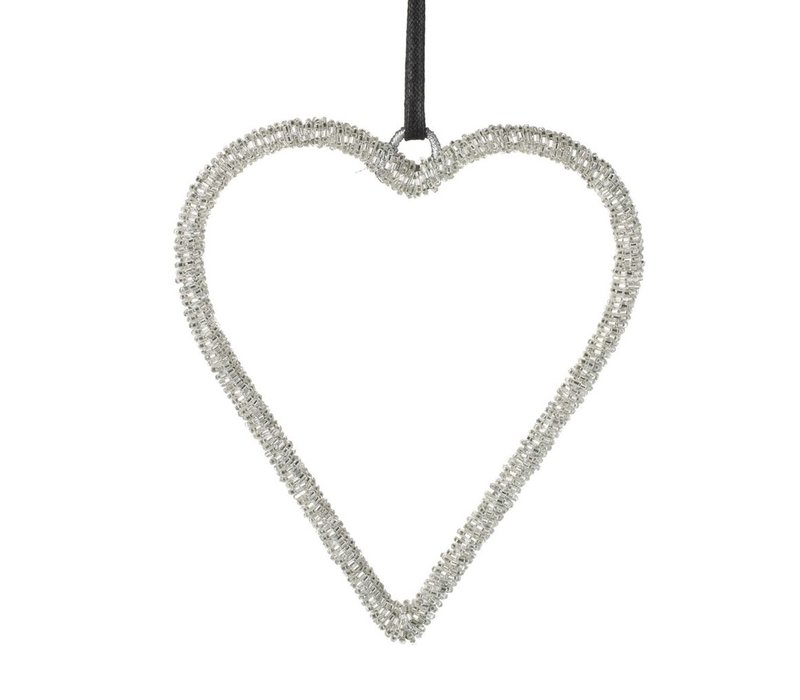 HEART PAOLA BEADS METAL SILVER - Small
