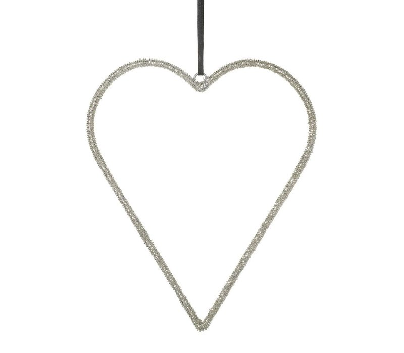 HEART PAOLA BEADS METAL SILVER - Medium