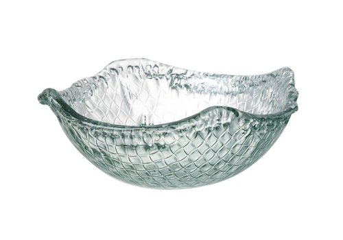 Homestore BOWL WEAVE - Small in Clear Glass