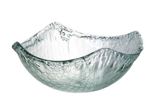 Homestore BOWL WEAVE - Medium in Clear Glass