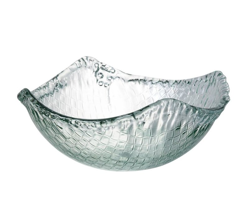 BOWL WEAVE - Medium in Clear Glass
