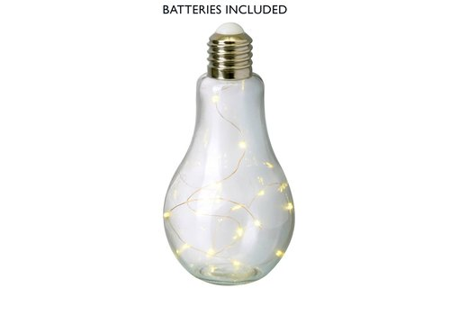 Homestore BULB with LED LIGHTS (X15) in Clear Glass