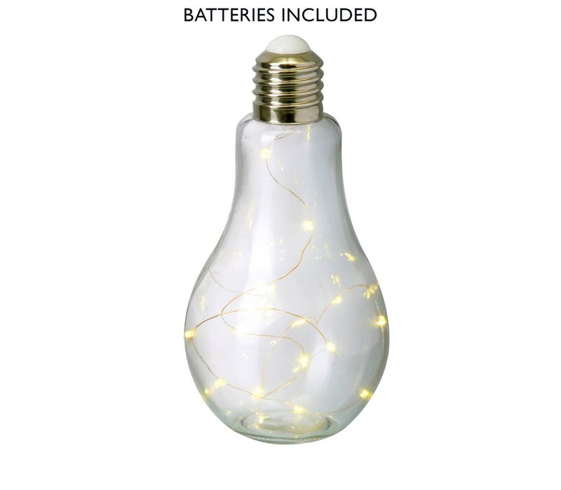 BULB with LED LIGHTS (X15) in Clear Glass