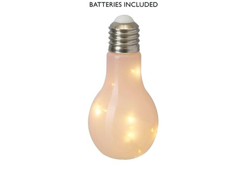 Homestore BULB with LED LIGHTS (X10) in Pink Glass