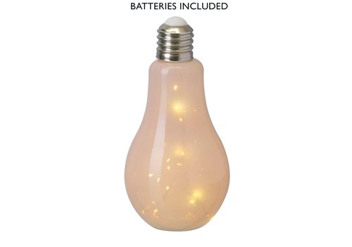 Homestore BULB with LED LIGHTS (X15) in Pink Glass