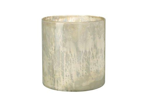 Homestore TEA-LIGHT HOLDER TIANA  in Antique Cream Glass - Medium