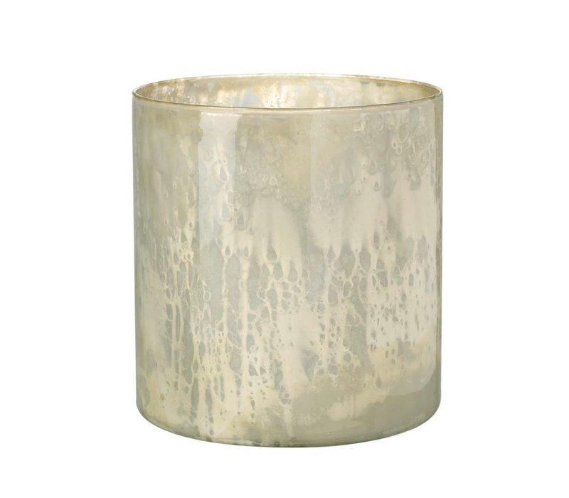 TEA-LIGHT HOLDER TIANA  in Antique Cream Glass - Medium
