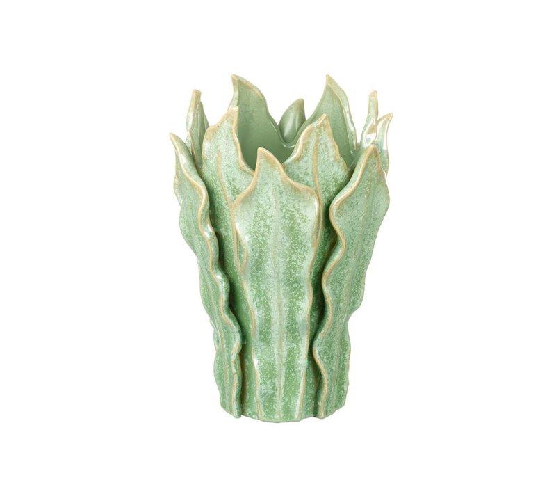 VASE VIPER in GREEN - Small
