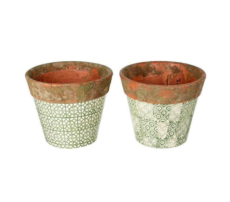 PLANTER SOWERBY in GREEN 2 Assorted - Medium