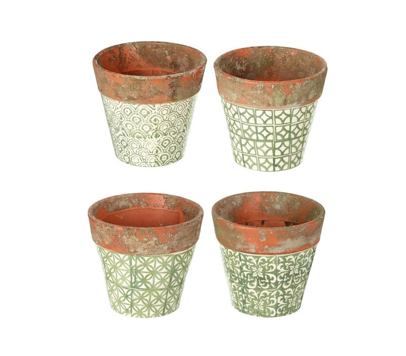 PLANTER SOWERBY in GREEN 4 Assorted - Small