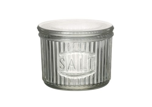 Homestore SALT JAR with LID in GLASS CLEAR