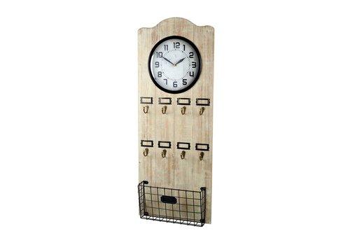 Homestore CLOCK VESTIBULE in Natural Wood & Metal