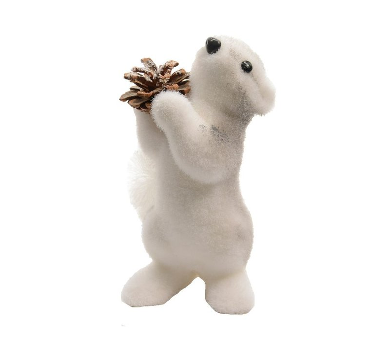 Foam squirrel with pinecone - Small