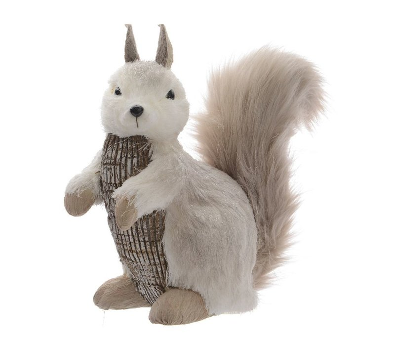 Squirrel with bark & glitter - Large