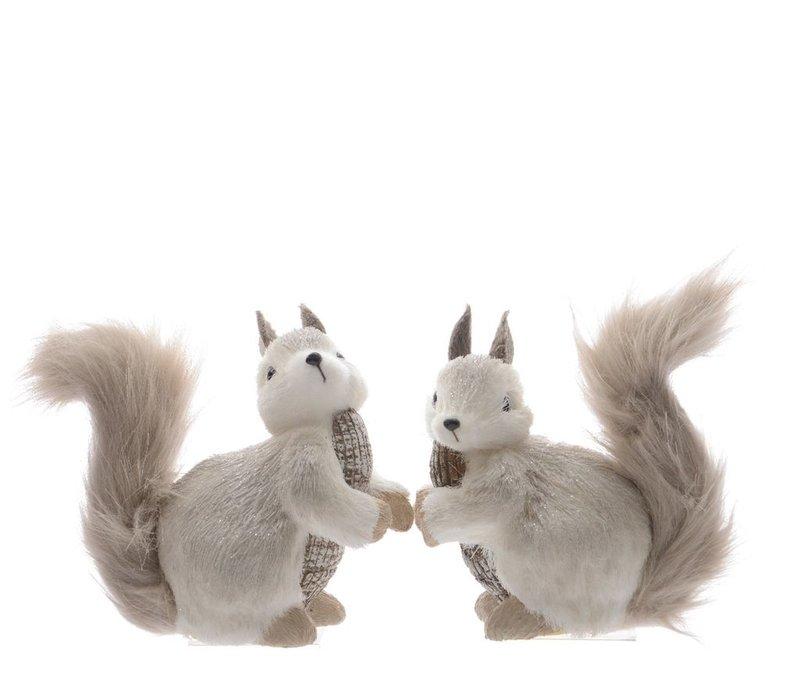 Squirrel with bark & glitter - Small
