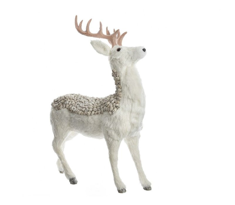 Deer with pinecones & glitter - standing