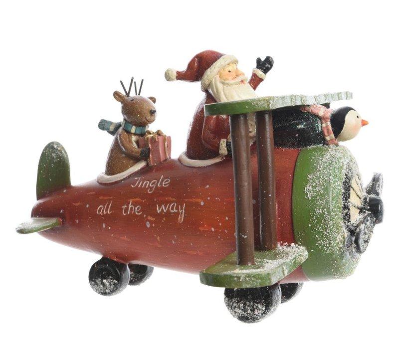 Santa in airplane
