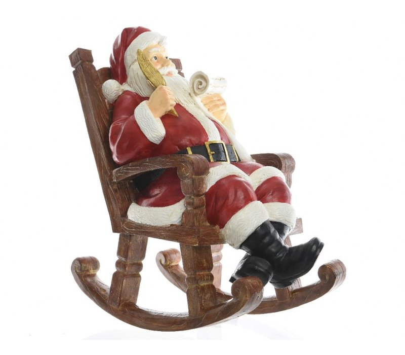 Santa in rocking chair - small