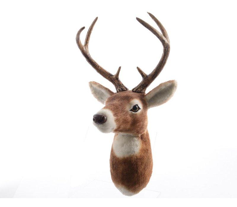 Fur Reindeer head in brown