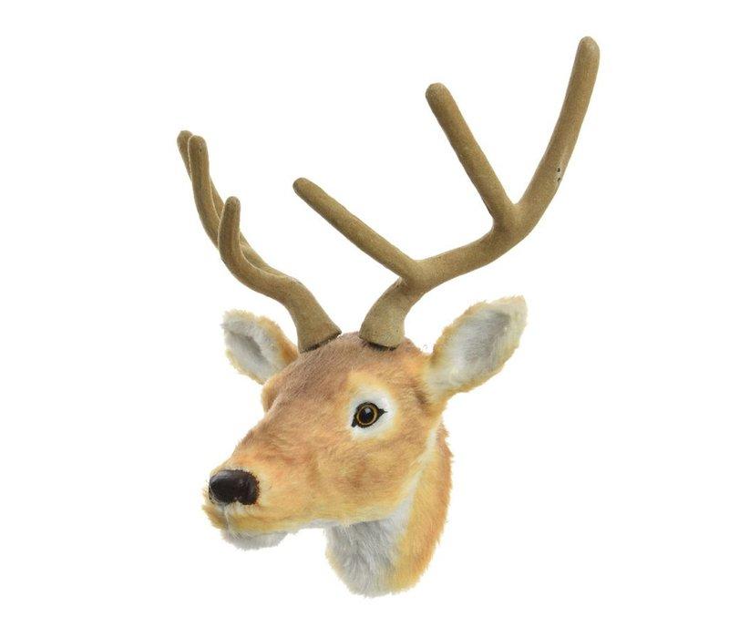 Fur Reindeer head - wall trophy