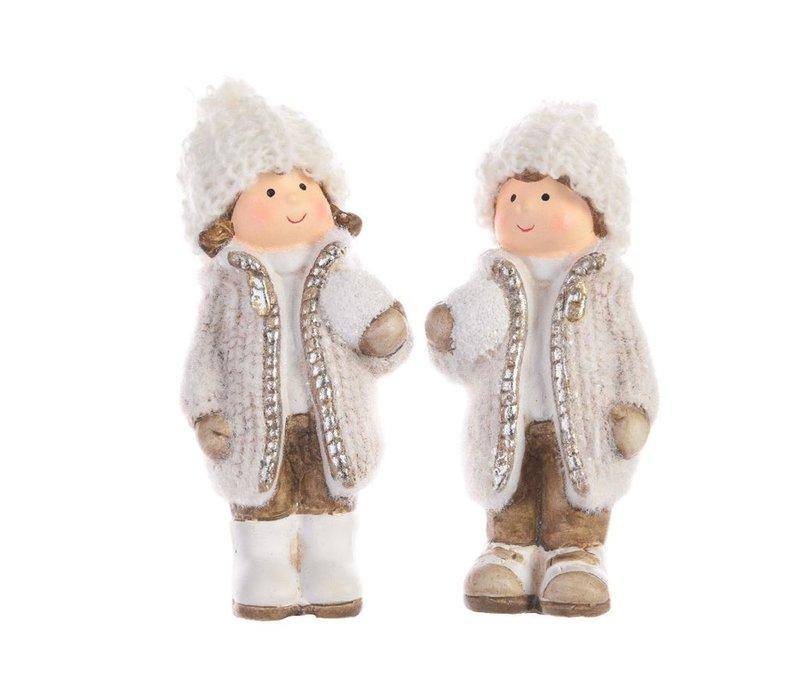 Winter boy or girl - ceramic - small