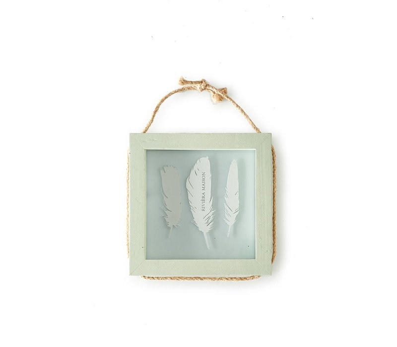 Pretty Feather Photo Frame Square