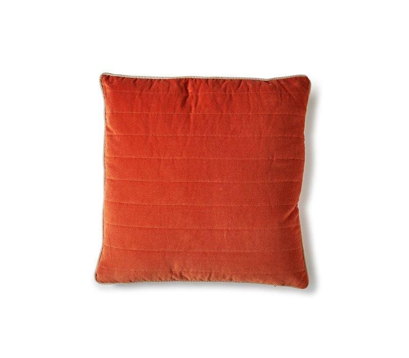 Vintage Velvet Cushion - Orange 50x50