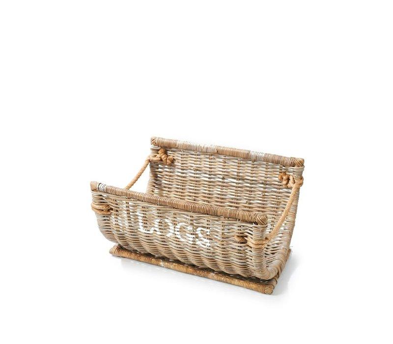 Log Wood Basket