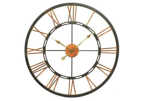 Homestore Large Metal Skeletal Wall Clock