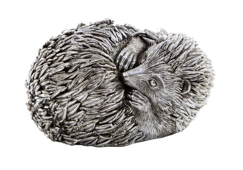 Homestore Curled Hedgehog Sculpture Antique Silver Finish