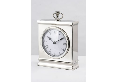 Homestore Amesbury Large Nickel Mantel Clock