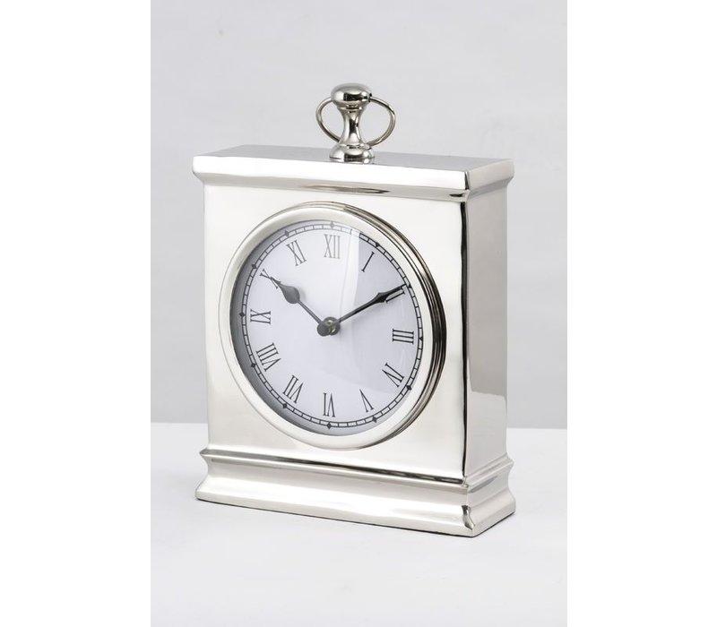 Amesbury Large Nickel Mantel Clock