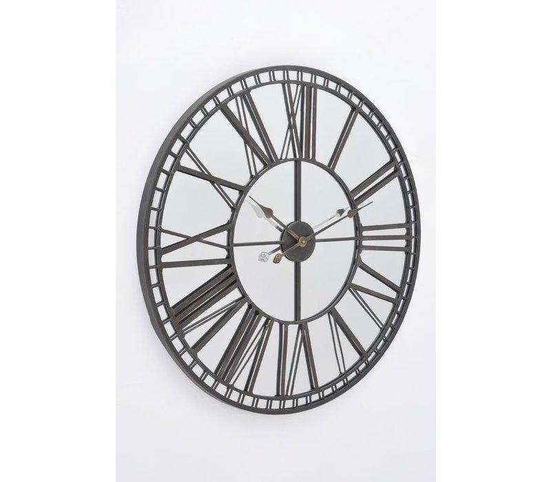 Skeleton Mirror Wall Clock