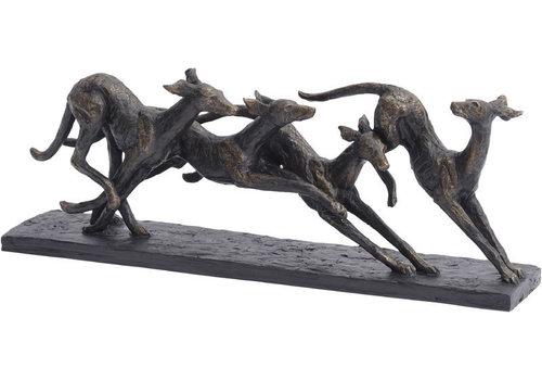 Homestore Racing Greyhounds Sculpture