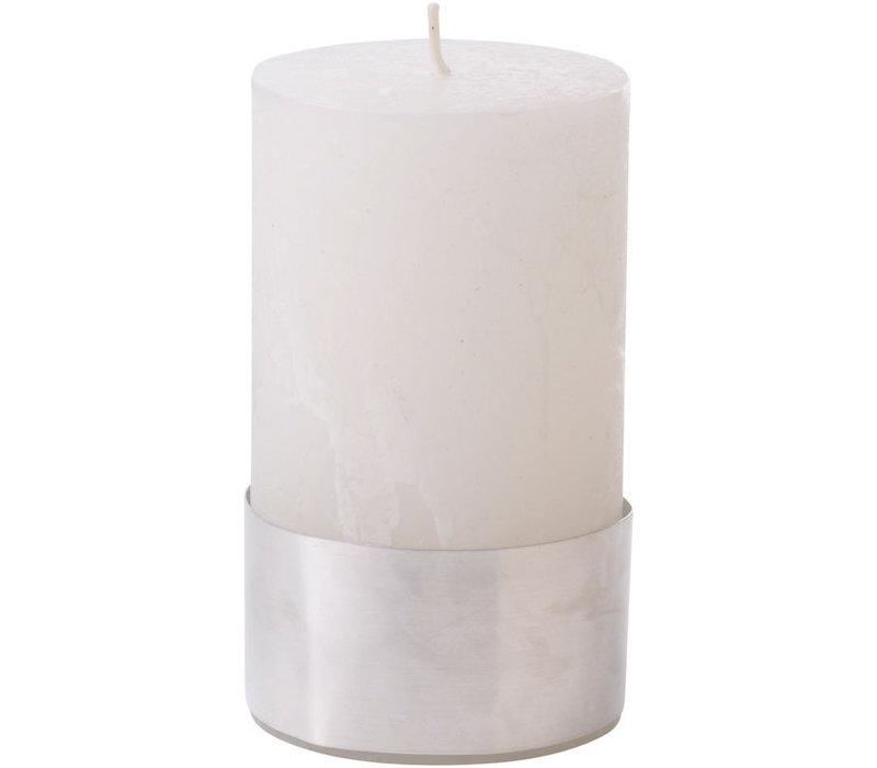 Libra White Rustica Pillar Candle 7x12cm