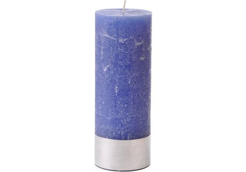 Homestore Libra Dutch Blue Rustica Pillar Candle 7x19cm