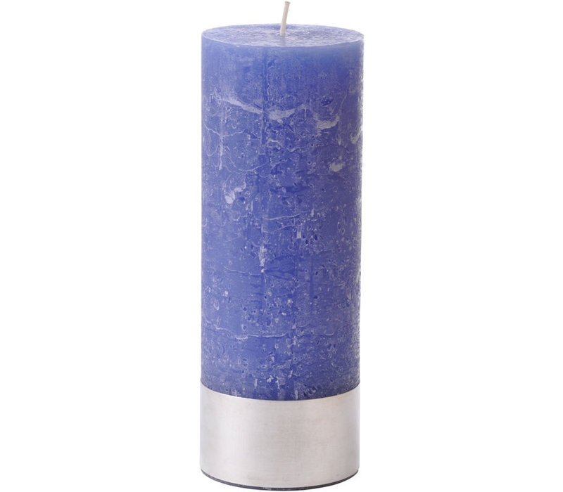 Libra Dutch Blue Rustica Pillar Candle 7x19cm