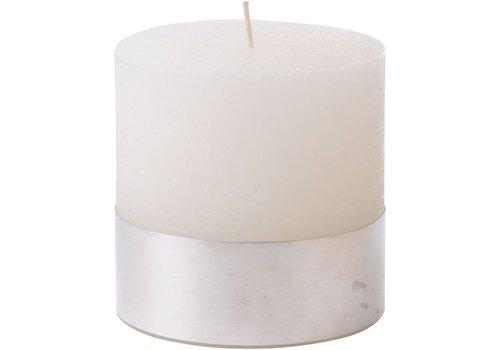 Homestore Libra White Rustica Pillar Candle 10x10cm