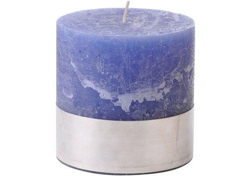 Homestore Libra Dutch Blue Rustica Pillar Candle 10x10cm
