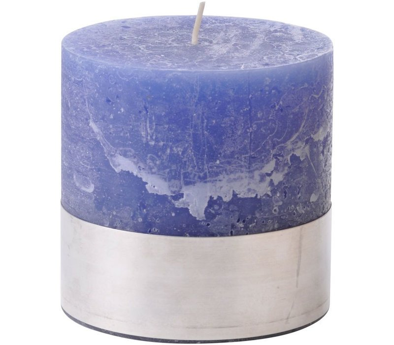 Libra Dutch Blue Rustica Pillar Candle 10x10cm