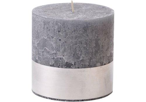 Homestore Libra Dark Grey Rustica Pillar Candle 10x10cm