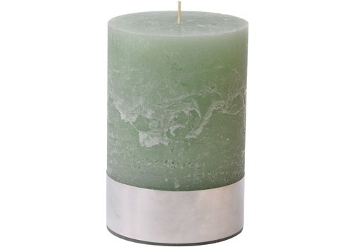 Homestore Libra Light Green Rustica Pillar Candle 10x15cm