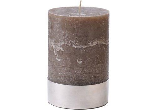 Homestore Libra Beige Rustica Pillar Candle 10x15cm