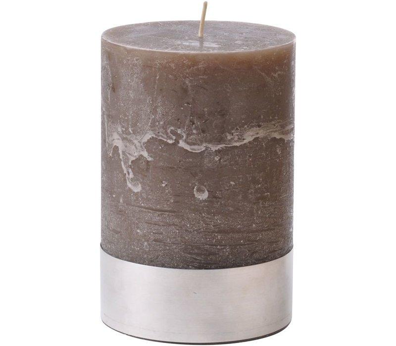 Libra Beige Rustica Pillar Candle 10x15cm