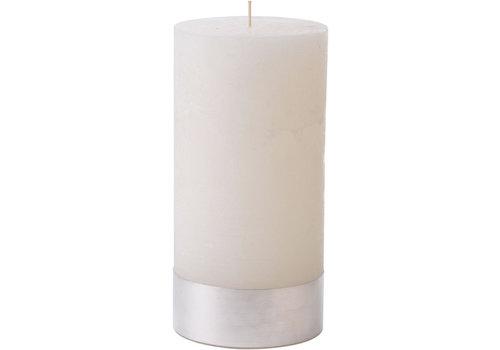 Homestore Libra White Rustica Pillar Candle 10x20cm