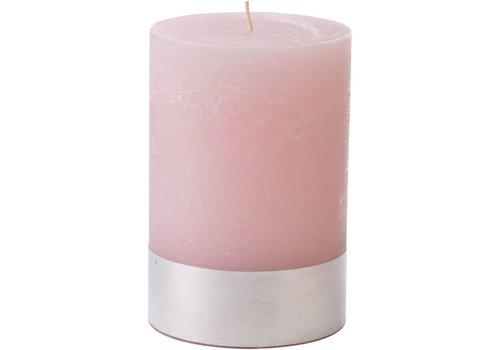 Homestore Libra Light Pink Rustica Pillar Candle 10x15cm