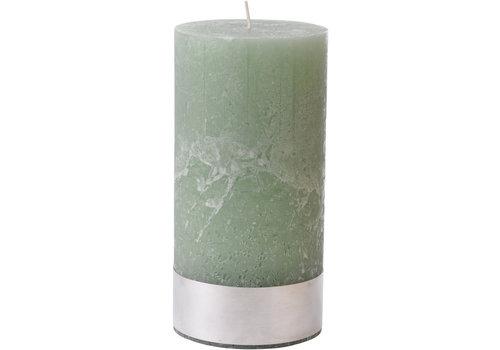 Homestore Libra Light Green Rustica Pillar Candle 10x20cm