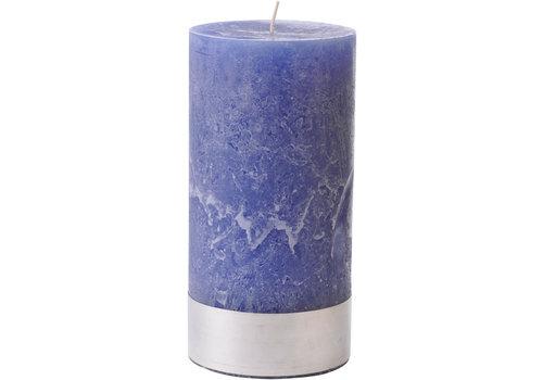 Homestore Libra Dutch Blue Rustica Pillar Candle 10x20cm