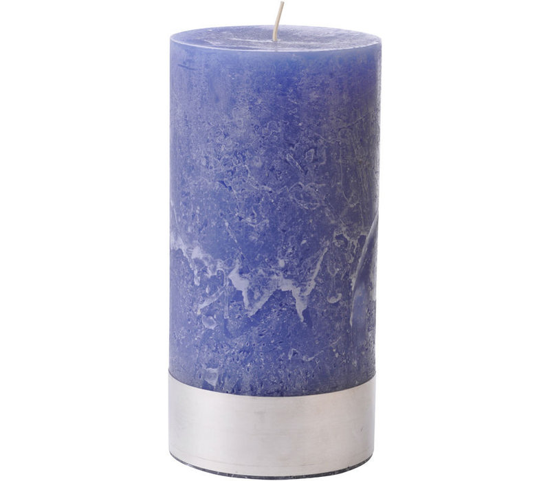 Libra Dutch Blue Rustica Pillar Candle 10x20cm